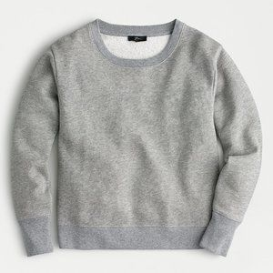 J Crew Metallic Pullover Sweatshirt, Grey Lurex